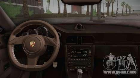 Porsche 911 Carrera para GTA San Andreas vista hacia atrás