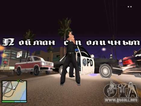 GTA 5 HUD v2 para GTA San Andreas segunda pantalla