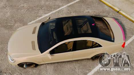 Mercedes-Benz S65 (W221) para GTA 4 visión correcta