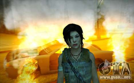 Tomb Raider Lara Croft Guerilla Outfit para GTA San Andreas sucesivamente de pantalla