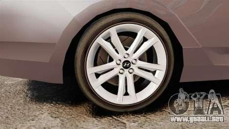 Hyundai i40 2013 Unmarked Police [ELS] para GTA 4 vista hacia atrás
