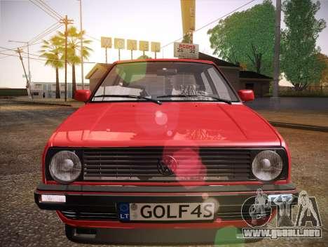 Volkswagen Golf Mk2 para la vista superior GTA San Andreas
