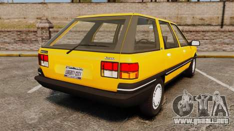 Renault 21 Nevada GTD para GTA 4 Vista posterior izquierda