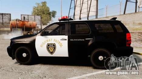 Chevrolet Tahoe 2007 LCHP [ELS] para GTA 4 left