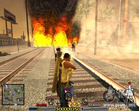 C-HUD Crime Ghetto para GTA San Andreas tercera pantalla