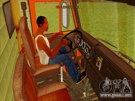 KamAZ-65115 para GTA San Andreas vista hacia atrás