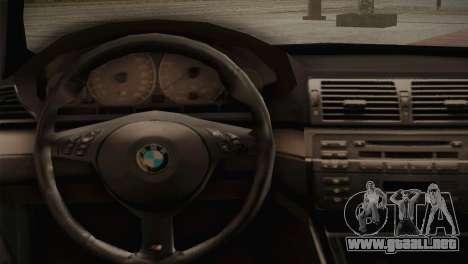 BMW M3 E46 Hellaflush para visión interna GTA San Andreas