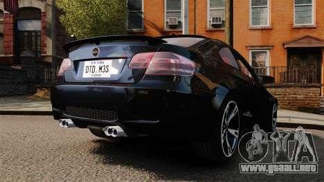 BMW M3 E92 AC Schnitzer ACS3-Sport para GTA 4 Vista posterior izquierda