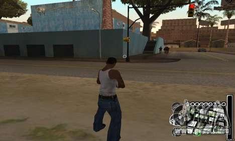 C-HuD Black White para GTA San Andreas segunda pantalla