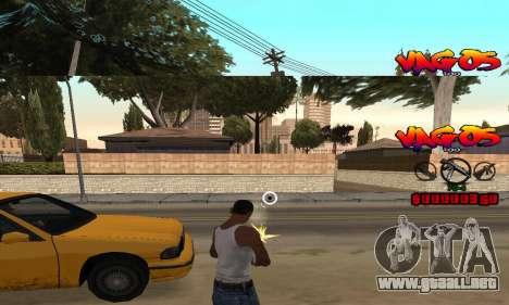 HUD Vagos para GTA San Andreas tercera pantalla