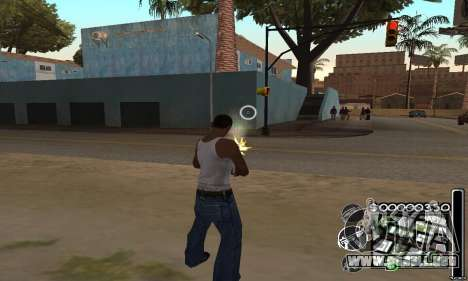 C-HuD Black White para GTA San Andreas tercera pantalla