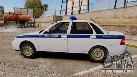 VAZ-2170 de Policía para GTA 4 left
