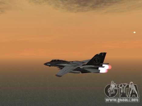 F-14 Tomcat HQ para GTA San Andreas vista hacia atrás