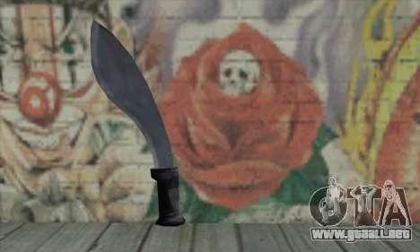 Espada para GTA San Andreas segunda pantalla