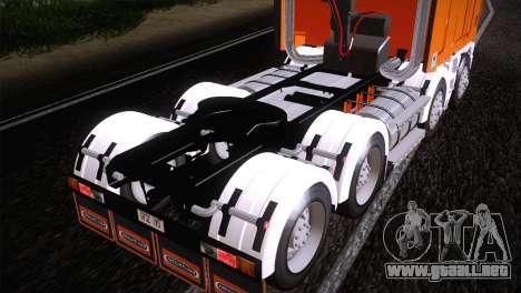 Freightliner Argosy 8x4 para la visión correcta GTA San Andreas