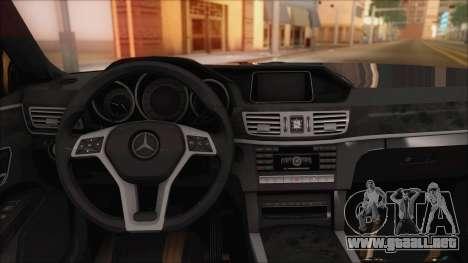Mercedes-Benz E63 AMG 2014 para la vista superior GTA San Andreas