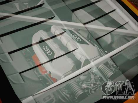 Audi R8 LMS v2.0.4 DR para vista inferior GTA San Andreas