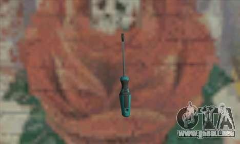 Destornillador para GTA San Andreas segunda pantalla