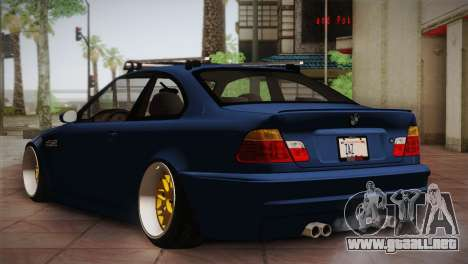 BMW M3 E46 Hellaflush para la visión correcta GTA San Andreas