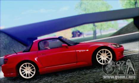 Honda S2000 Daily para vista inferior GTA San Andreas
