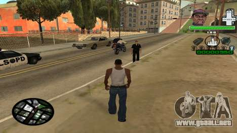 C-HUD by Tyler para GTA San Andreas segunda pantalla