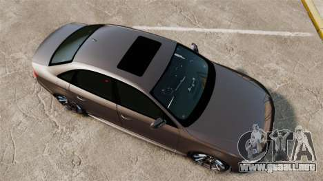 Audi S4 2013 Unmarked Police [ELS] para GTA 4 visión correcta