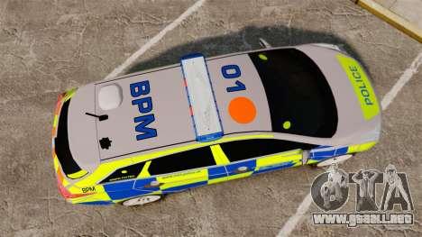 Hyundai i40 2013 Metropolitan Police [ELS] para GTA 4 visión correcta