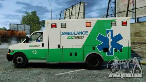 Brute GQ Med Ambulance [ELS] para GTA 4 left