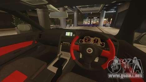 Nissan Skyline GTR-34 Nismo Z-Tune para GTA 4 vista hacia atrás