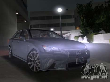 Lexus GS350 F Sport 2013 para GTA Vice City vista posterior