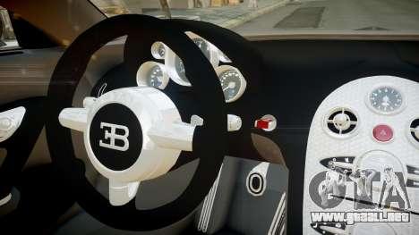 Bugatti Veyron 16.4 Police NFS Hot Pursuit para GTA 4 vista interior