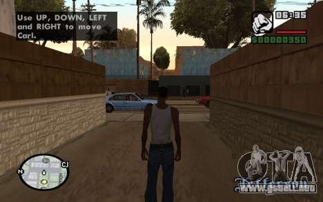HQ Radar by Rockstar para GTA San Andreas segunda pantalla