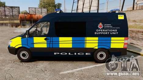 Mercedes-Benz Sprinter Police [ELS] para GTA 4 left