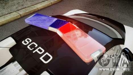 Bugatti Veyron 16.4 Police NFS Hot Pursuit para GTA 4 vista hacia atrás