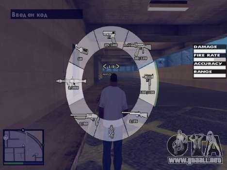 GTA 5 HUD v2 para GTA San Andreas sexta pantalla