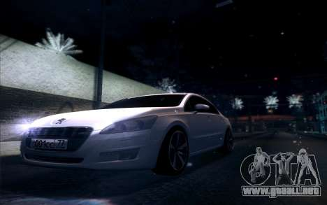 Peugeot 508 2011 v2 para visión interna GTA San Andreas