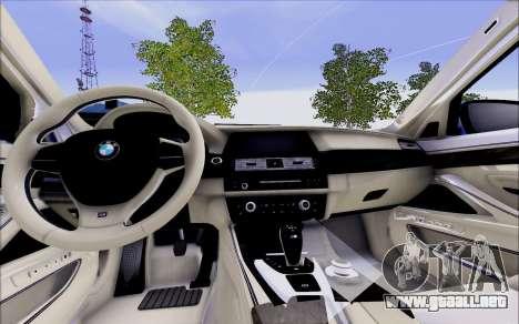 BMW 550 F10 xDrive para la visión correcta GTA San Andreas