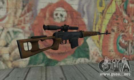 Dragunov Sniper Rifle para GTA San Andreas segunda pantalla