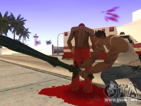 Vidrio espada de Skyrim para GTA San Andreas sucesivamente de pantalla