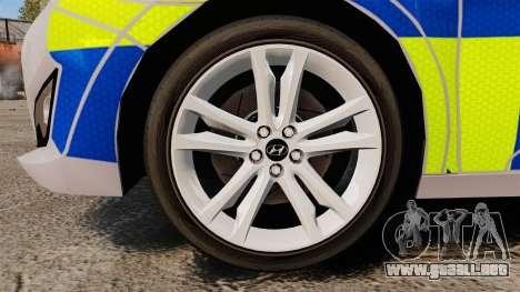 Hyundai i40 2013 Metropolitan Police [ELS] para GTA 4 vista hacia atrás