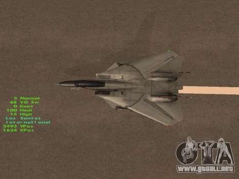 F-14 Tomcat HQ para el motor de GTA San Andreas