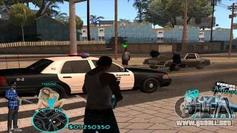 C-HUD Aztecaz by HARDy para GTA San Andreas segunda pantalla