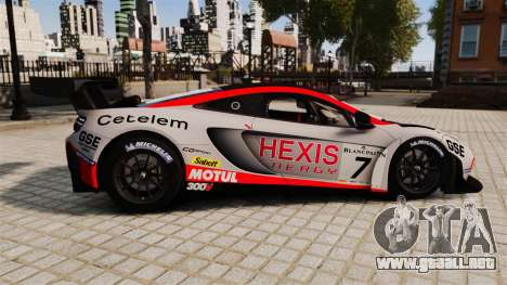 McLaren MP4-12C GT3 para GTA 4 left