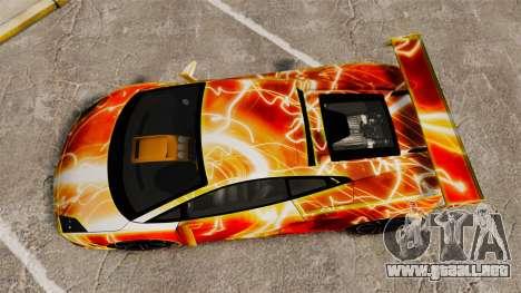 Lamborghini Gallardo 2013 Red Light para GTA 4 visión correcta