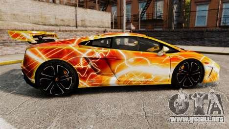 Lamborghini Gallardo 2013 Red Light para GTA 4 left