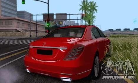 Mercedes-Benz W222 para visión interna GTA San Andreas