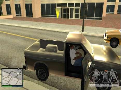 GTA 5 HUD v2 para GTA San Andreas sucesivamente de pantalla