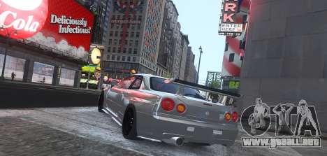 Nissan Skyline GTR-34 Nismo Z-Tune para GTA 4 Vista posterior izquierda