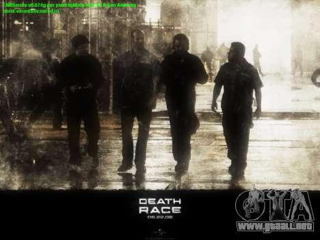 Inicio de las pantallas de la Carrera de la Muer para GTA San Andreas segunda pantalla