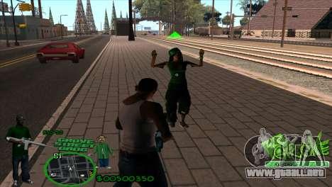 C-HUD Groove by HARDy para GTA San Andreas segunda pantalla